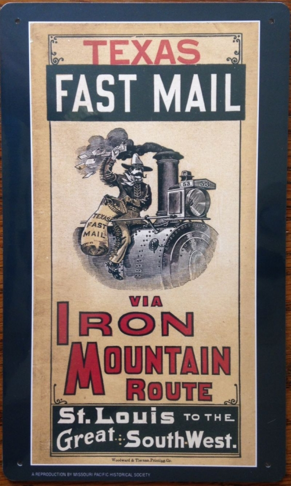 Metal Sign - Texas Fast Mail