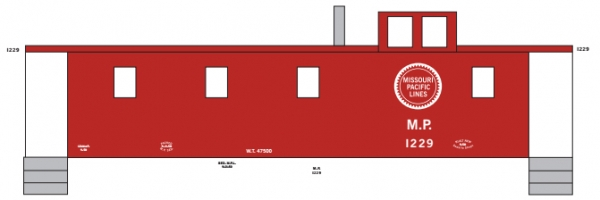 Mask Island Decal 87-299 Caboose MP 1229 Series