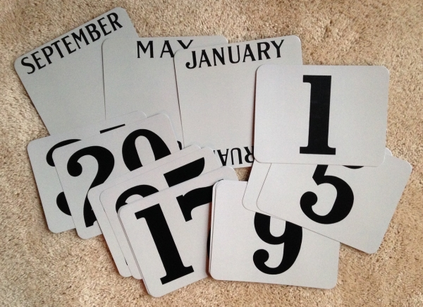 Perpetual Calendar Replacement Cards - Silver Diesel