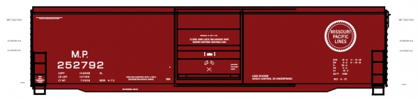 Mask Island Decal 87-219 MP 252792 series 50' Boxcar