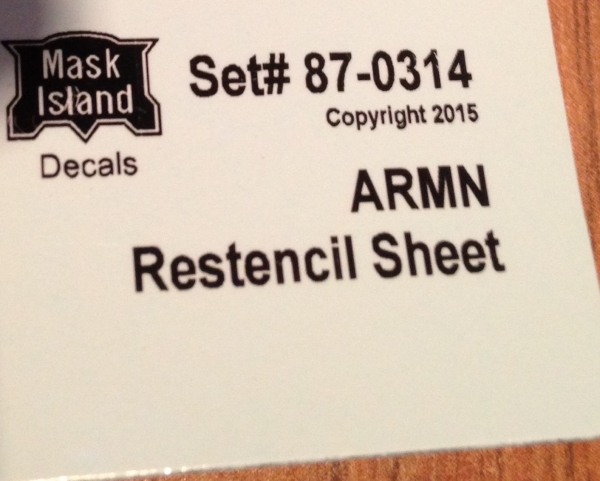 Mask Island Decal 87-314 ARMN Restencil Set