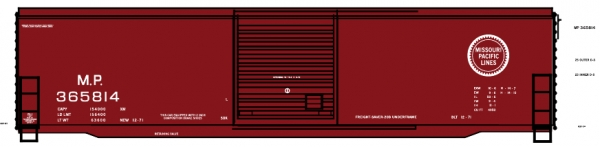 Mask Island Decal 87-171 MP 365814 series 50' Boxcar